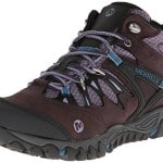 Merrell Women's All Out Blaze Mid Waterproof Hiking Boot,Plum Perfect,8.5 M US