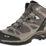 Salomon Men's Comet 3D GTX Hiking Boot, Dark Titanium/Swamp/Turf Green, 10 M US