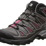 Salomon Women's X Ultra Mid 2 GTX Hiking Shoe, Detroit/Autobahn/Hot Pink, 8.5 M US