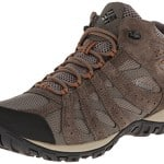 Columbia Men's Redmond Mid Waterproof Trail Running Shoe,Pebble/Dark Ginger,10.5 M US