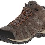 Columbia Men's Redmond Mid Waterproof Trail Running Shoe,Pebble/Dark Ginger,12 M US