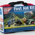 Ultra-Light & Small 100-Piece First Aid Kit w/ Unique Items, Durable Nylon Case - Ideal for the Car, Kitchen, School, Camping, Hiking, Travel, Office, Sports, Hunting and Home, Emergency & Survival